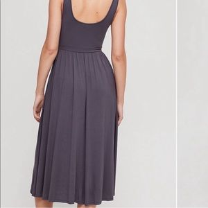 Aritzia Dresses - Aritzia Wilfred Medium Gray Assonance Dress